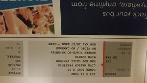 Red Hot Chili Peppers two tickets lower level