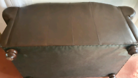 Two seater leather Thomas Lloyd sofa.
