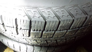 New winter tires on rims 195/60 R15 rims 4x100 bolt pattern