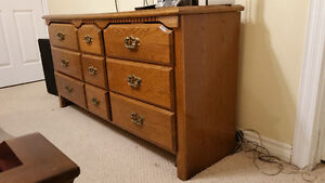Vintage Dresser with nine drawers in good condition.