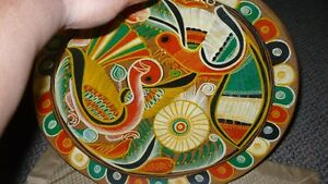 VINTAGE GORGEOUS MEXICAN TALVERA HAND PAINTED BIRDS CLAY PLATE Kitchener / Waterloo Kitchener Area image 5