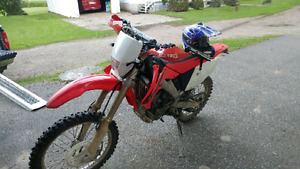 2005 honda crf 250x with street kit