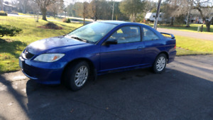 2005 Civic , auto, low kms, etested, extra set of winter tires