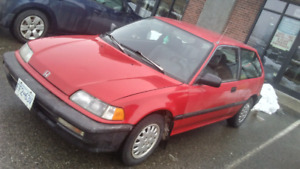 1991 honda civic cx 5speed 1200 obo