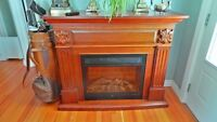Large Mantel Electric Fireplace