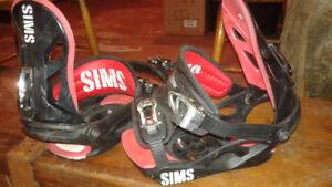 SIMS Snowboard bindings