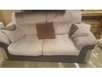 Double sofa bed with chair and footstool