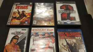 Bundle of Dvd, PC games and PSP.
