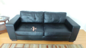 Bonded Leather Love Seat