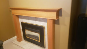 Oak Fireplace Mantle in Chase, BC