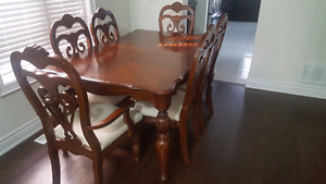 Dining Table and Buffet Cabinet Set