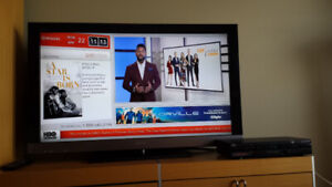 "SONY TV EX5/40"" with PVR box"