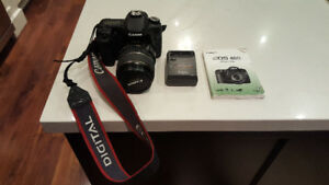 Canon EOS 40D SLR camera and lens