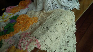 Vintage Colourful Doilies + One Tablecloth Kitchener / Waterloo Kitchener Area image 2