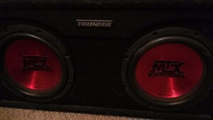 """10"""" MTX thunder subs with infinity amp"""