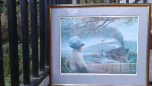 Attention train lovers: great framed print