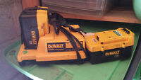 36 volt Dewalt charger and two batteries