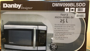 Microwave still in box. Never been used.