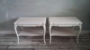 Pair of White Side Tables - Airy & Light
