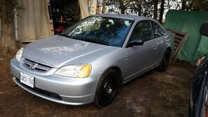 2002 Honda Civic LX Coupe Low Kms, Cert & E-Tested (No Rust)