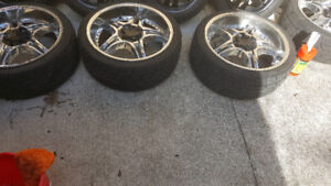 RIMS AND TIRES 22 INCH 5X120