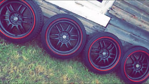 Drag rims and tires