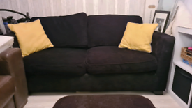 Dfs metal sofa bed with foot stool