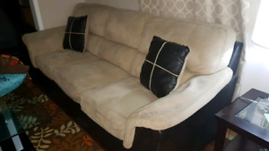 Sofa 3 seater and love seat 2 seater suede 2 shade