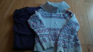 gap sweater  and mex jeans 5-6 girls