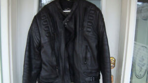 real good quality black leather jacket size 54