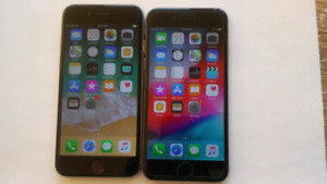 2 Apple iphone 6, 64gb, space grey, unlocked