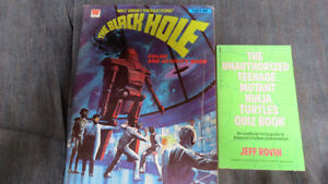 The Black Hole colorbook and TMNT quiz book