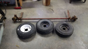 Utility trailer axle, springs and tires