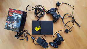 Playstation 2 Slim Edition + 2 Controllers + 10 Games
