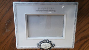 New Ceramic 25th Wedding Anniversary picture frame
