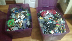 2 large totes loose Lego's