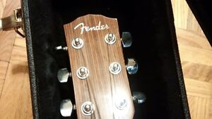 FENDER GUITAR, CASE, AND STAND London Ontario image 4
