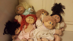 Six Cabbage Patch Kids Dolls 1983/1984