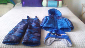 Boys snowsuit 3T and matching hat