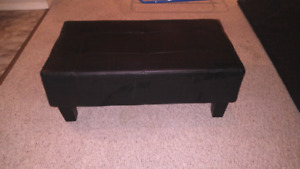 Black Leatherette Bench/Table
