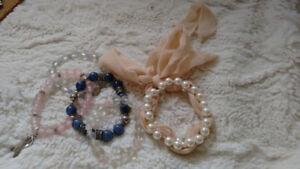 Bracelet assortment - Bangles, gems, beads, rhinestones