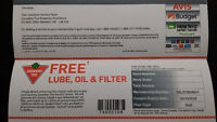 """Canadian Tire """"Free Oil Change"""" Gift Certificate"""