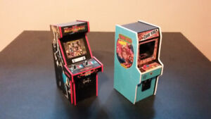 5-inch tall arcade cabinet miniatures