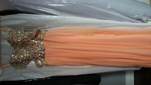 prom dress La Femme sz4 La Creme