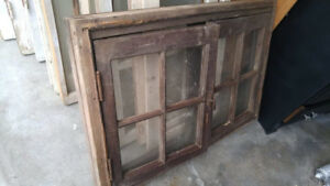 Large Antique Window with Frame