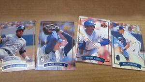 McDonald's/Donruss 1992 Toronto Blue Jays MVP cards(4)