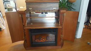 ELECTRIC FIREPLACE BAR - Solid Wood