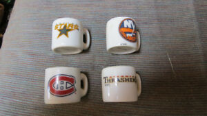 4 NHL mini glass mugs