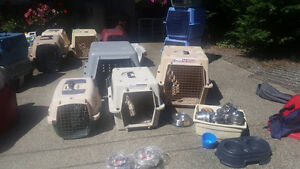 Several Dog Crates Various Sizes