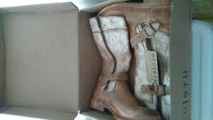 New Bed Stu designer genuine leather boots w/box